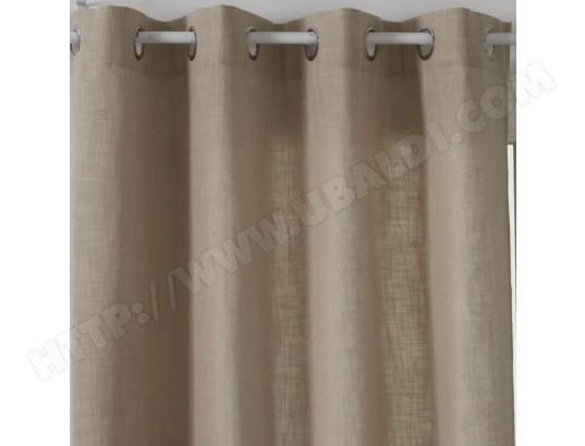 rideau clem 140 x 260 cm couleur lin atmosphera ma 23ca528ride lsdqo pas cher. Black Bedroom Furniture Sets. Home Design Ideas