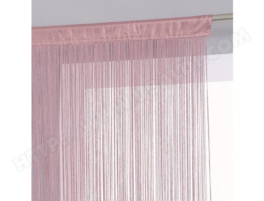 Rideau fils 120 x 240 cm rose pale atmosphera ma 23ca528ride 5ou4r pas cher for Rideau occultant rose pale