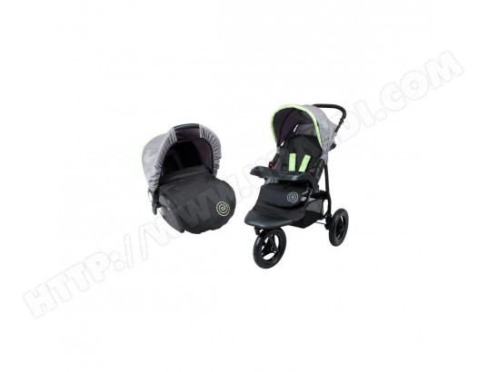 BAMBIKID Duo Poussette 3 Roues avec Siege Auto Groupe 0+ BAMBISOL MA-31CA466BAMB-CRDRD