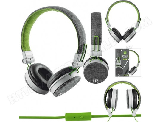 TRUST FYBER HEADPHONE - Grey/Green TRUST MA-33CA266TRUS-N9RJV