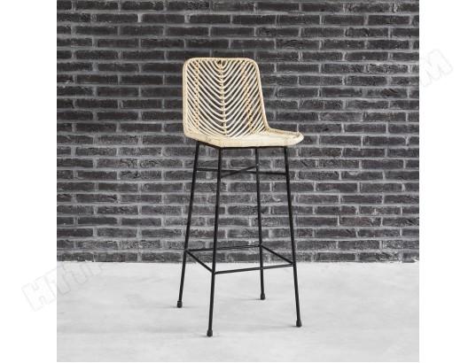 tabouret de bar en rotin et m tal bois dessus bois dessous ma 69ca493tabo st6pu pas cher. Black Bedroom Furniture Sets. Home Design Ideas