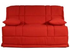 Elegant Canapé BZ En Tissu HONOR Couchage Quotidien Matelas BULTEX 12 Cm   Rouge  BULTEX MA