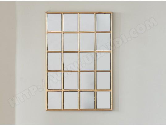 Miroir Fenêtre Atelier Art Déco Maddie Effet Laiton 60 X