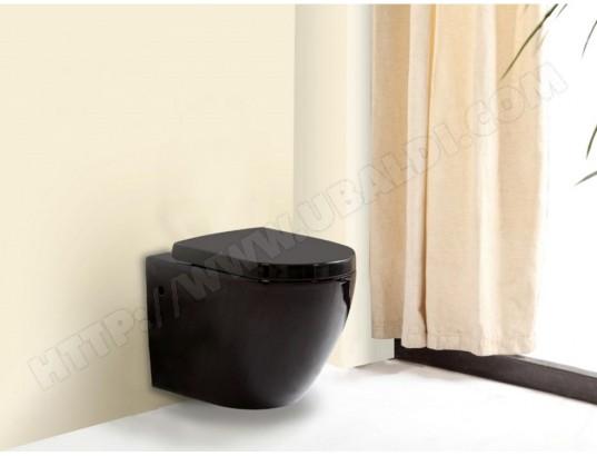 wc suspendu kenji noir vente unique ma 82ca544wcsu dsfc6. Black Bedroom Furniture Sets. Home Design Ideas