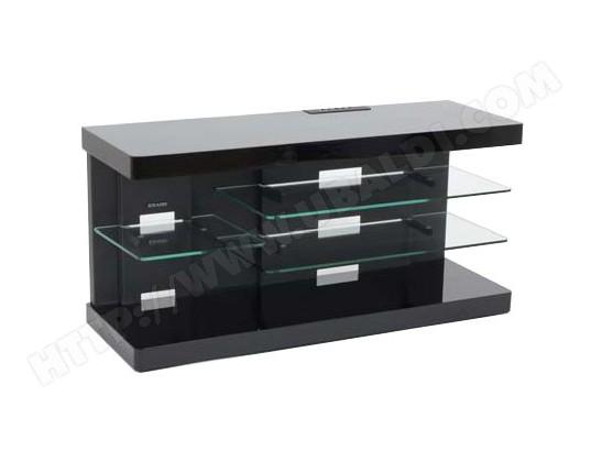 meuble tv erard ice laque noir 035210 discount. Black Bedroom Furniture Sets. Home Design Ideas