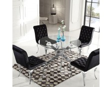 Table Salle A Manger Verre Achat Vente Table Salle A