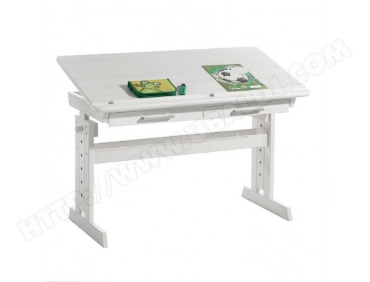 Tableau et bureau miniatures d école sur le fond blanc photo stock