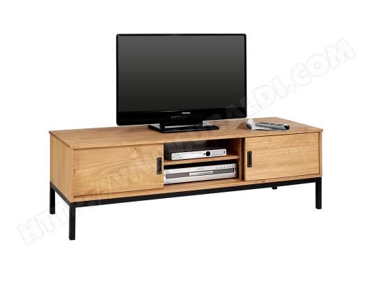 Meuble Tv Selma Banc Tele De 145 Cm Au Style Industriel