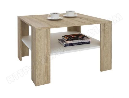 table basse sejour d cor ch ne sonoma et blanc idimex. Black Bedroom Furniture Sets. Home Design Ideas