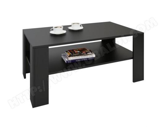 Tablette Noir De Salon : Table basse de salon lorient rectangulaire avec tablette