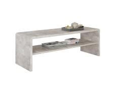 en m/élamin/é d/écor b/éton et Blanc Mat IDIMEX Table Basse Adelaide Table de Salon rectangulaire avec Compartiment de Rangement Ouvert