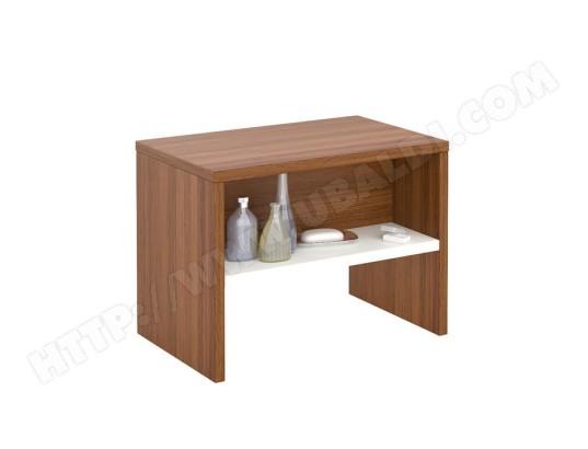 table de chevet dion table de nuit casier m lamin d cor noyer et blanc mat idimex ma. Black Bedroom Furniture Sets. Home Design Ideas
