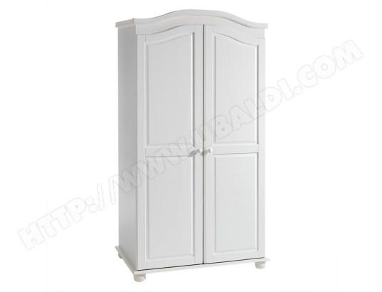 armoire en pin 2 portes davos lasur blanc idimex 8068 pas cher. Black Bedroom Furniture Sets. Home Design Ideas