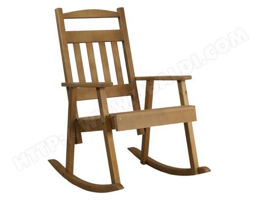 rocking chair bois key west couleur bois fum h 108 x l 68 5 x p 86cm pegane pegane ma. Black Bedroom Furniture Sets. Home Design Ideas