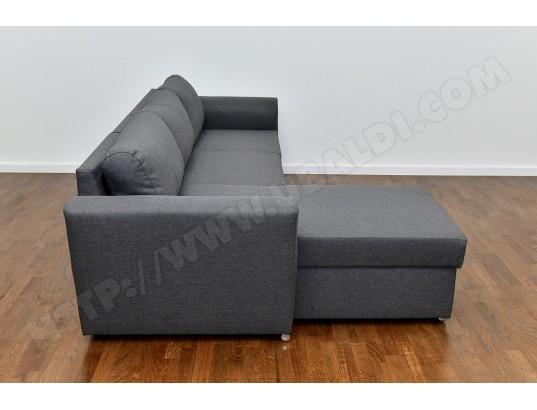 Canapé lit UB DESIGN Cannes angle réversible tissu gris Pas Cher ... 3ba4247b5103
