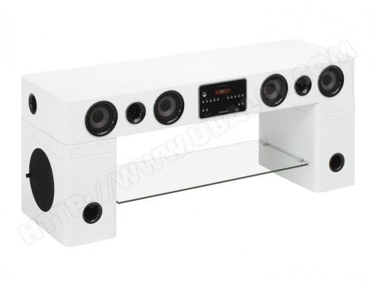 Meuble Tv Home Cinema Integre Watts Ii Bluetooth Blanc Vente