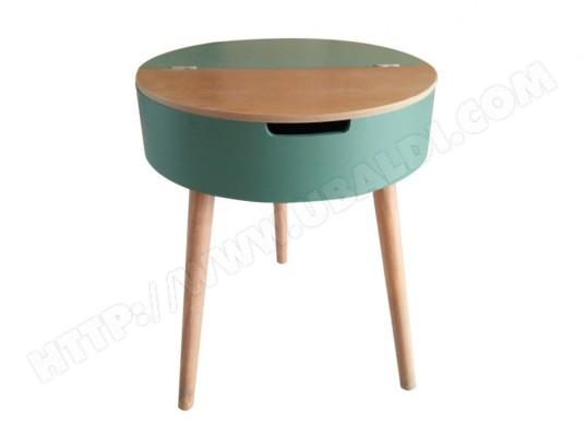 table d 39 appoint scandinave zalia avec rangement h57 cm. Black Bedroom Furniture Sets. Home Design Ideas