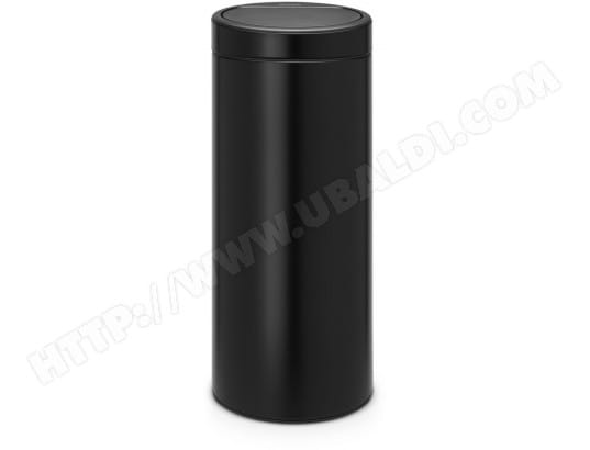 Poubelle Touch BRABANTIA Touch bin new 30 L - matt black -115301