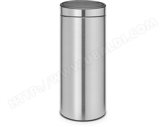 Poubelle Touch BRABANTIA Touch bin new 30 L - matt steel