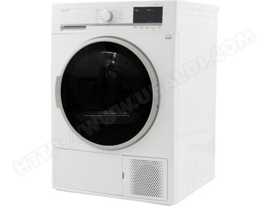 sharp kdghb8s7gw2 pas cher s che linge condensation sharp livraison gratuite. Black Bedroom Furniture Sets. Home Design Ideas