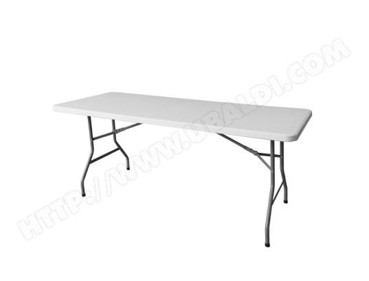 Table de jardin pliante 183cm plastique blanc MA MAISON MES ...