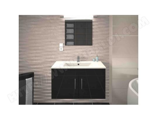Meuble De Salle De Bain Simple Vasque 80 Cm Gris Mat Lea Ma Maison