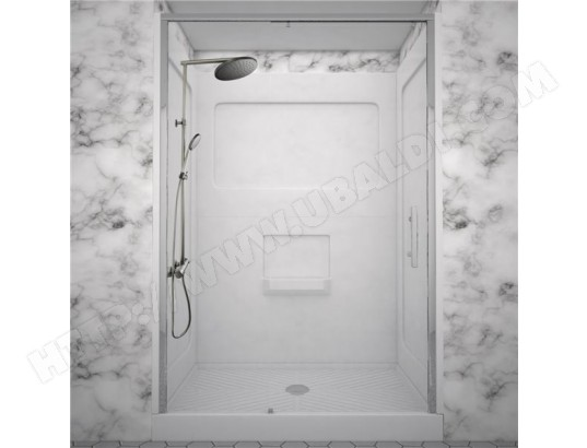 cabine de douche integrale porte coulissante colonne douche thermostatique graphite ilea ma. Black Bedroom Furniture Sets. Home Design Ideas