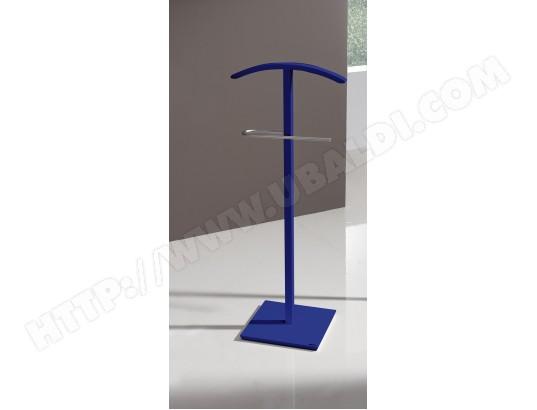 Valet de Nuit simple Bleu en Bois/Metal sur socle carré, 46 ...