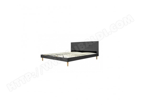 lit victoria 140x190 gris fonc sofareva ma 80ca195litv ajx3q pas cher. Black Bedroom Furniture Sets. Home Design Ideas