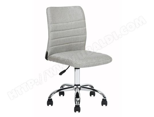 chaise de bureau grise tissu m tal chrom tbd ma 15ca549chai xwwzz pas cher. Black Bedroom Furniture Sets. Home Design Ideas