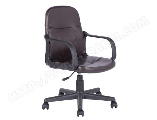 fauteuil de bureau marron pvc plastique tbd ma 15ca549faut 31764 pas cher. Black Bedroom Furniture Sets. Home Design Ideas