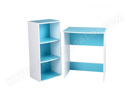 bureau enfant tag re bois bleu tbd ma 15ca456bure g6fza pas cher. Black Bedroom Furniture Sets. Home Design Ideas