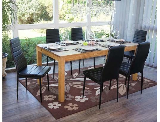 PEGANE Lot de 6 chaises en Polyuréthane , couleur noire Dim : H 95 x L 43 x P 53 cm PEGANE MA 82CA493LOTD 5ZKRH