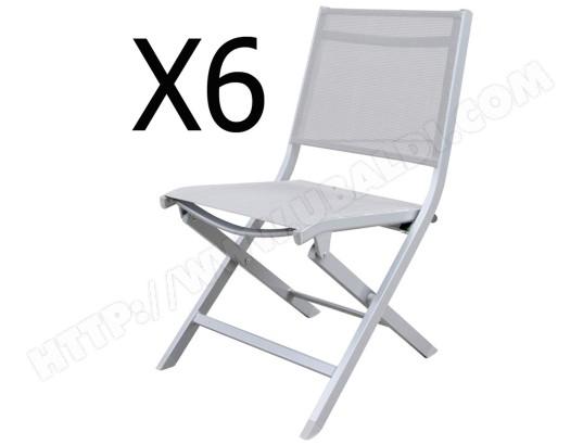 En Et Chaises De Aluminium Jardin 6 Textilène Lot Pliantes rtdshQCxBo