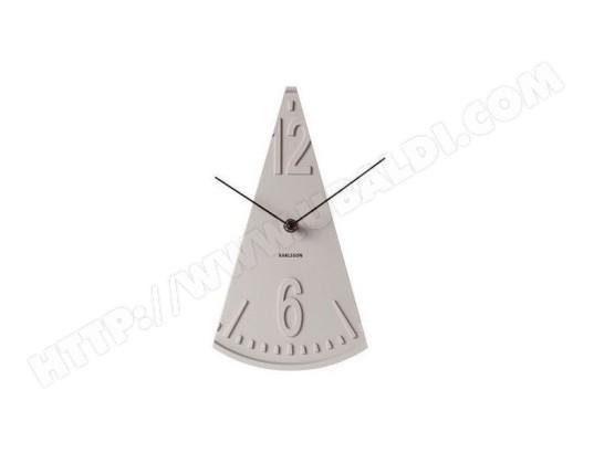 horloge poser balance grise 16x28 5cm karlsson ma 22ca229horl wrtam pas cher. Black Bedroom Furniture Sets. Home Design Ideas