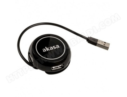 AKASA Connect4C 4-IN-1 - 4 ports concentrateur USB 2.0 AKASA MA-24CA41_AKAS-IABMY