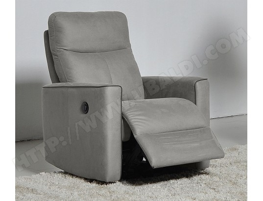 Fauteuil Relaxation UB DESIGN Sirio fauteuil relax electrique tissu gris