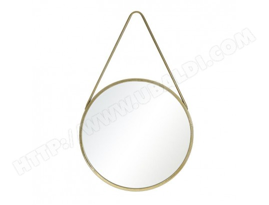 Miroir rond m tal dor taille m kiwano l 50 x l 2 x h 50 tousmesmeubles ma 46ca357miro zlt9k for Miroir rond dore