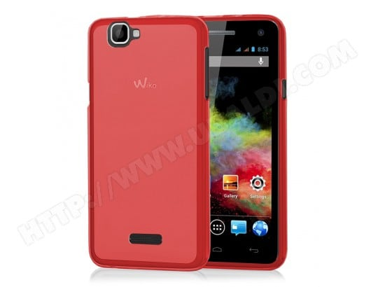 Housse Etui Coque silicone gel pour Wiko Rainbow - ROUGE VCOMP WKBOW_SD_ROUGE_0F_ch3955