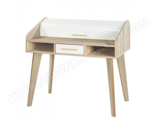 Pivotant vintage blanc bois sans chaise massif cuir fauteuil