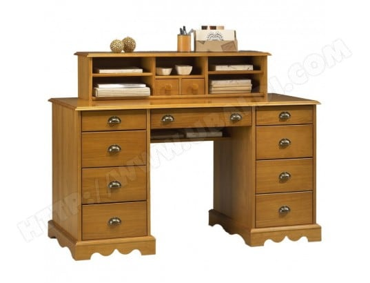 bureau du notaire pin massif miel de style anglais beaux. Black Bedroom Furniture Sets. Home Design Ideas