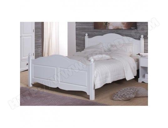 Lit blanc 2 places 140 x 190 de style anglais beaux meubles pas chers 40140 pas cher - Avis beaux meubles pas cher com ...
