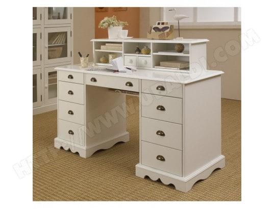 Grand bureau blanc de style anglais bureau du notaire beaux