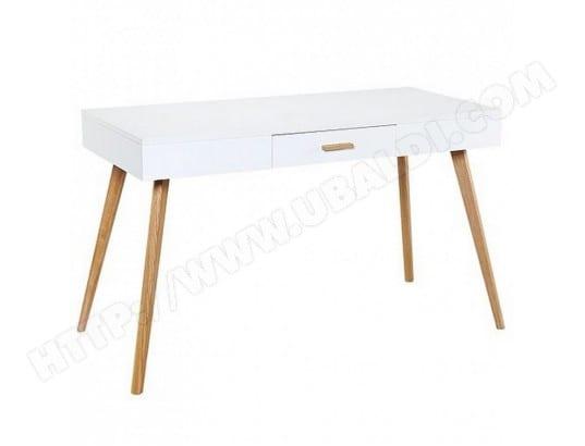bureau blanc 1 tiroir 4 pieds ch ne vintage beaux meubles pas chers 9316 s pas cher. Black Bedroom Furniture Sets. Home Design Ideas