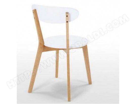 2 chaises blanches et ch ne beaux meubles pas chers 9513 pas cher. Black Bedroom Furniture Sets. Home Design Ideas