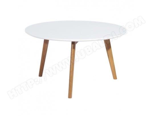 Table Basse Ronde Blanche 3 Pieds Chene Beaux Meubles Pas Chers