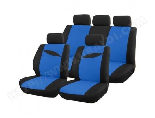 scenario Housse protection pour si/ège de voiture bi couleur noir et bleu