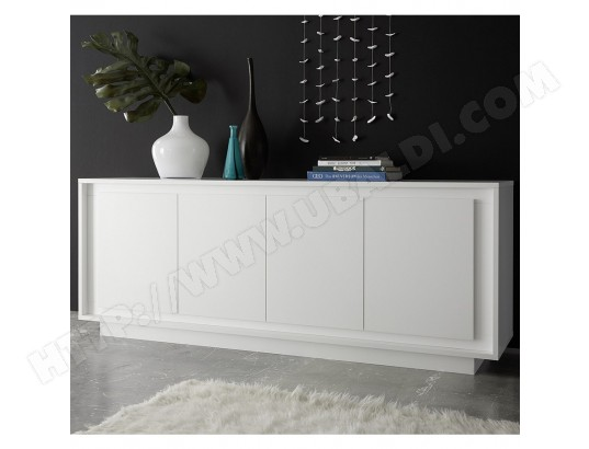 Bahut Blanc Laque Mat Design Olivia Kasalinea Bah D 515 Pas