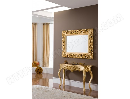 Miroir mural en gris ou dor laqu design carla kasalinea ma 91ca357miro ymq17 pas cher for Long miroir mural