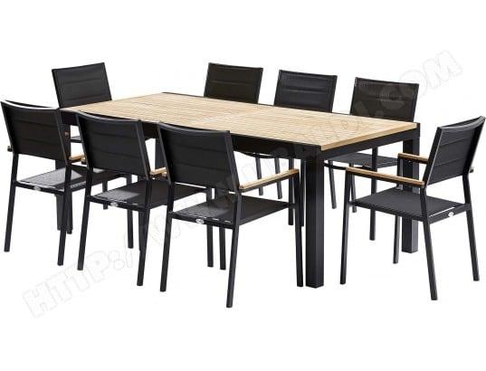 Table et chaises de jardin moderne Bali 8 fauteuils WILSA ...